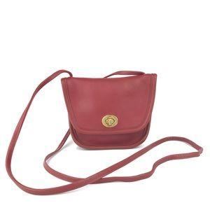 COACH Red Leather Everett Flap Crossbodyl 9934